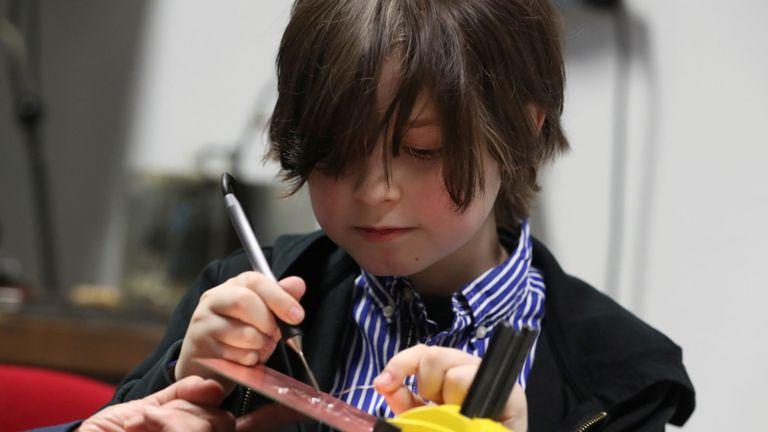 The nine-year-old studies electrical engineering