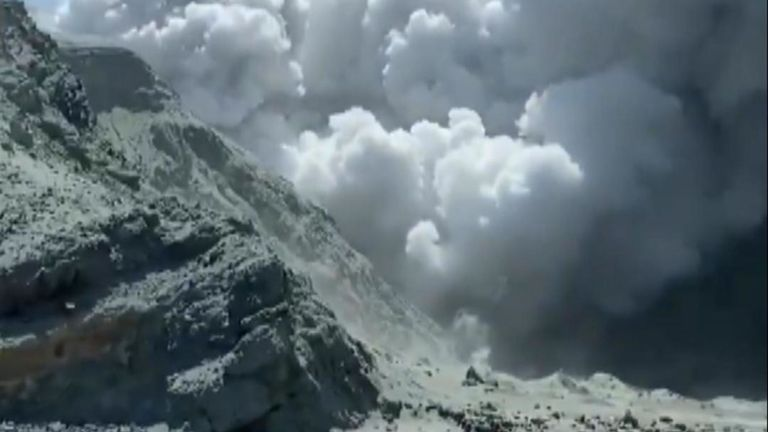 After a volcano on New Zealand's White Island, there is one confirmed casualty with other tourists injured and 'unaccounted for'